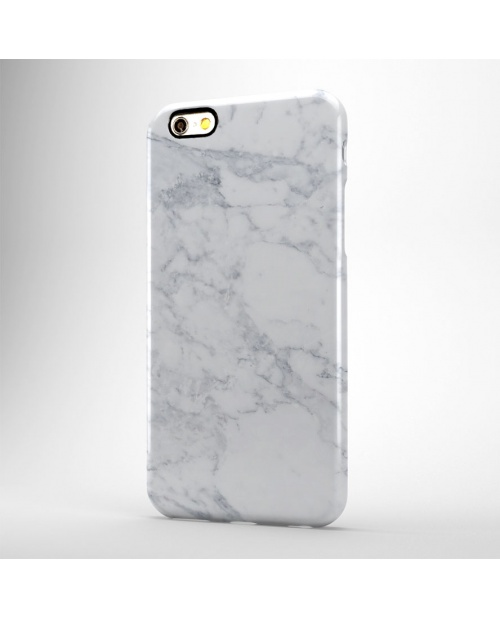 White Marble Print Hard Case